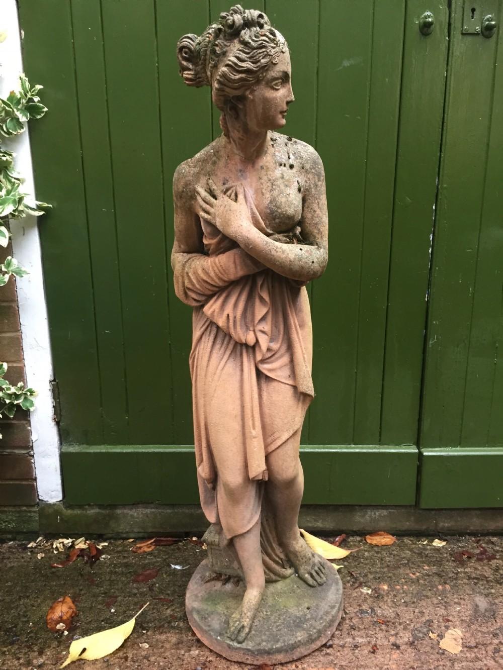 late c19thearly c20th neoclassical terracotta statue venus italica after canova