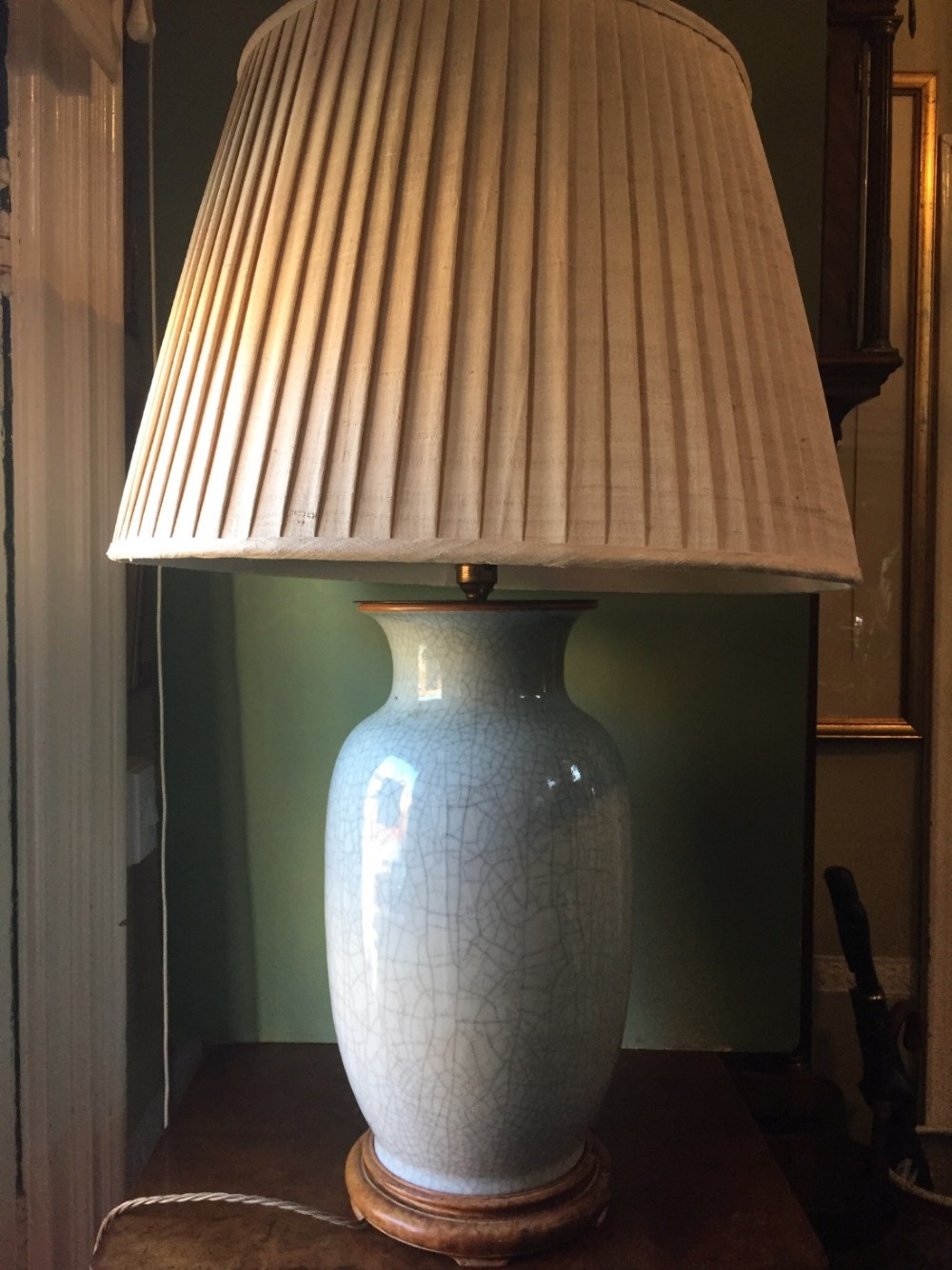 late c19thearly c20th chinese qing dynasty porcelain lamp