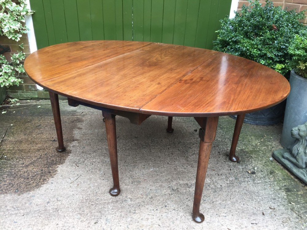 c18th george iii period mahogany oval dropleaf dining table