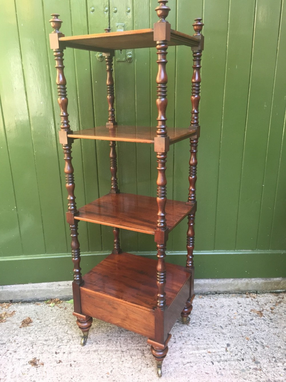 early c19th late george iii period mahogany 4tier etagere