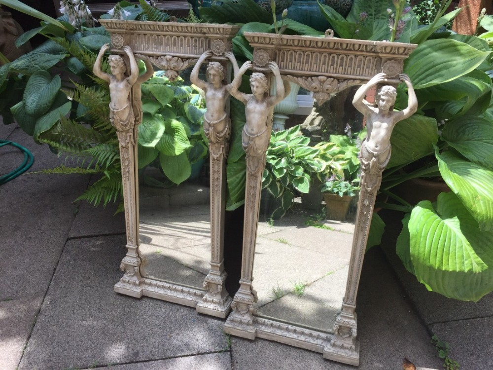 pair of small late c18th neoclassical design pier mirrors in the manner of robert adam
