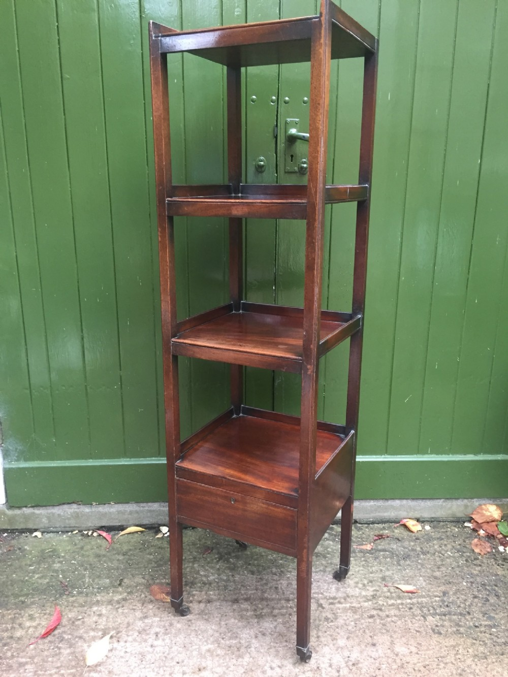 late c18th george iii period mahogany etagere of restrained and sophisticated design