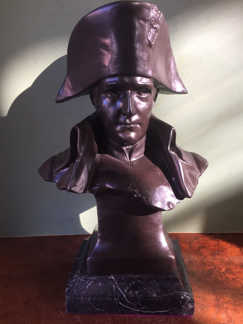 late c19th french signed bronze bust study of the emperor napoleon bonaparte