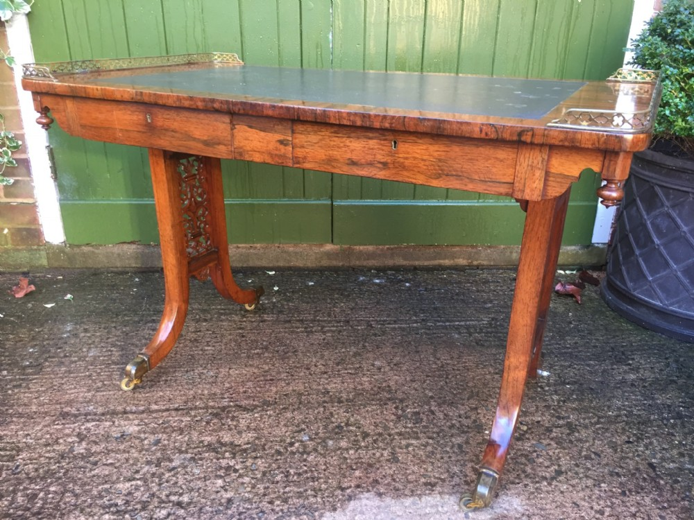 c19th william iv period rosewood writing or library table in the manner of gillows of lancaster and london