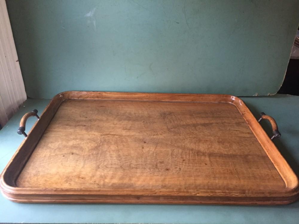 late c19th victorian period walnut tray
