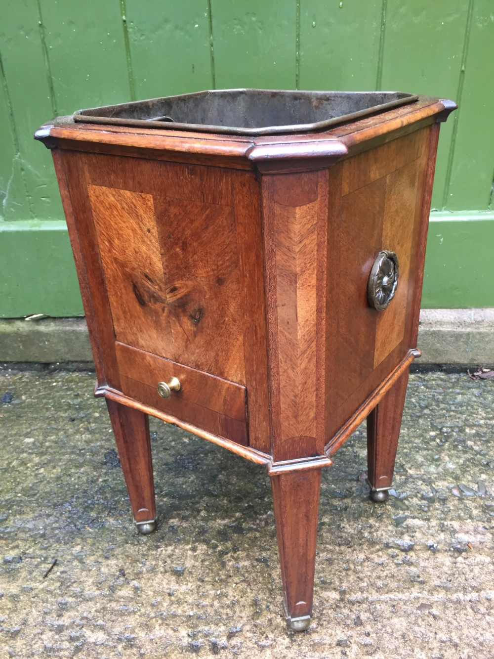 early c19th dutch mahogany 'teestoof' or kettlewarmer of neoclassical design