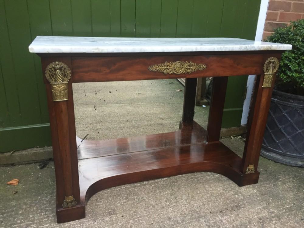 early c19th french mahogany empire design mahogany console table