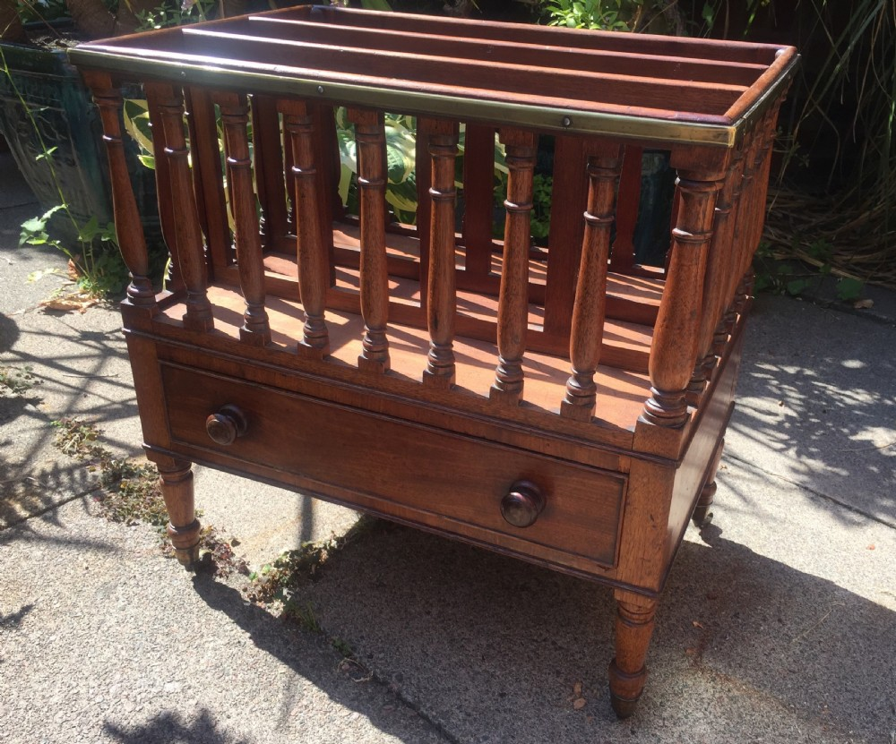 c19th regency period mahogany canterbury or magazine rack in the manner of gillows of lancaster