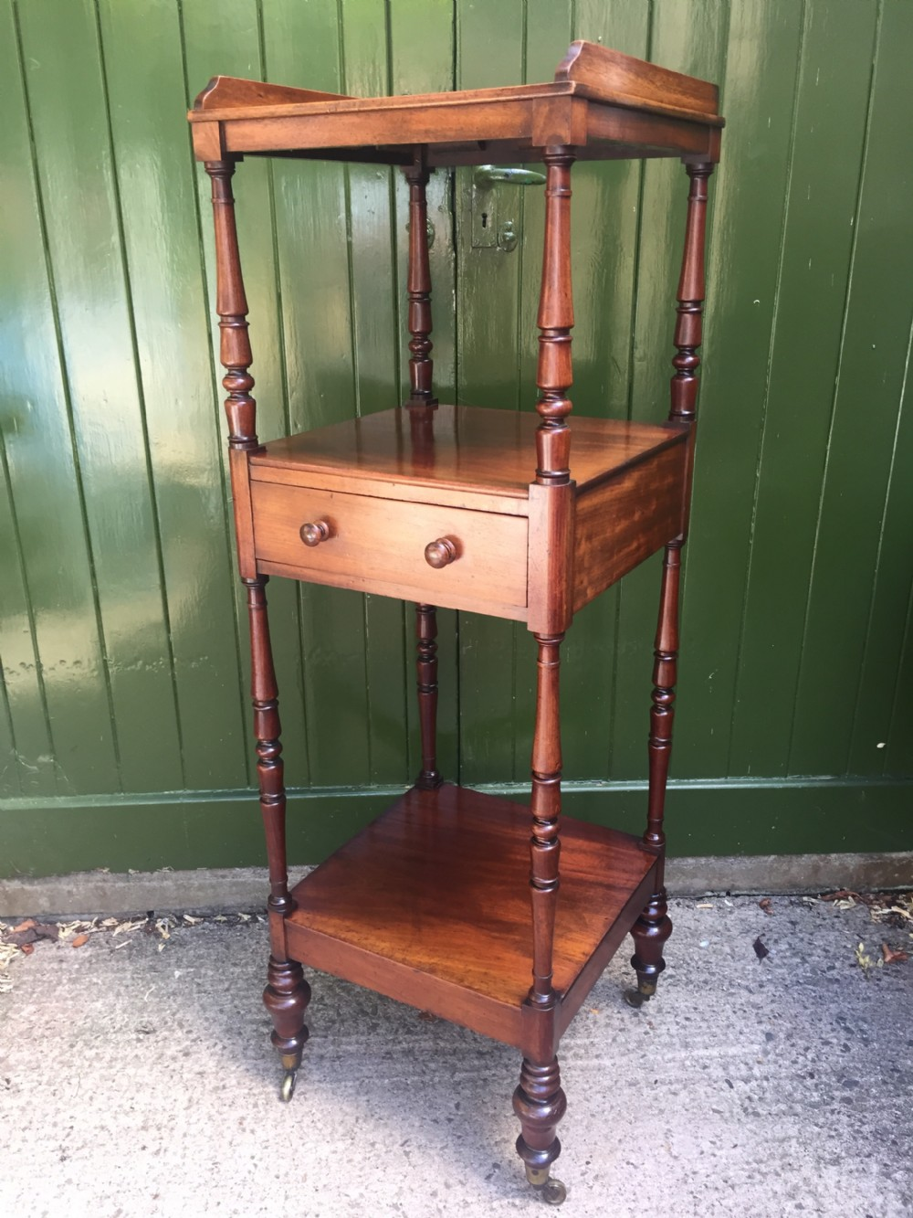 early c19th george iv period mahogany etagere