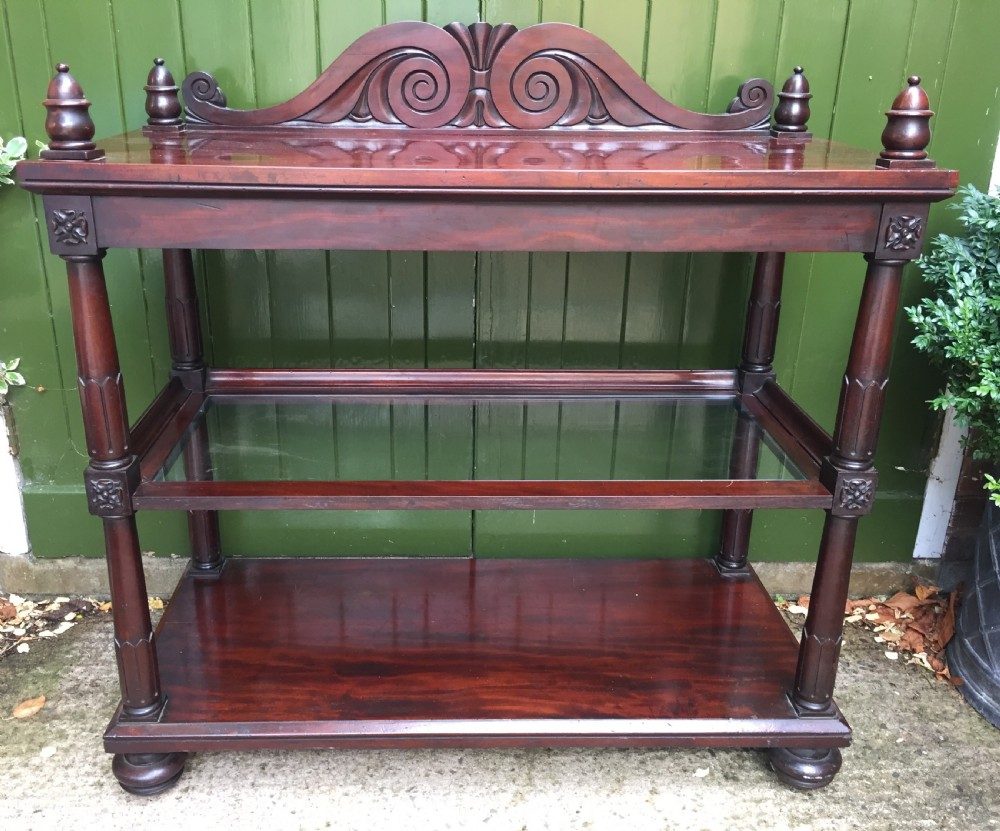 early c19th george iv mahogany buffet or etagere of unusual design and form