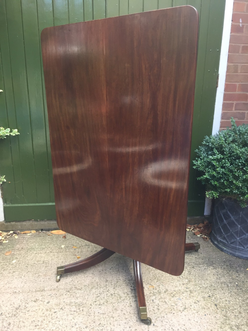 early c19th regency period mahogany rectangular breakfast or dining table
