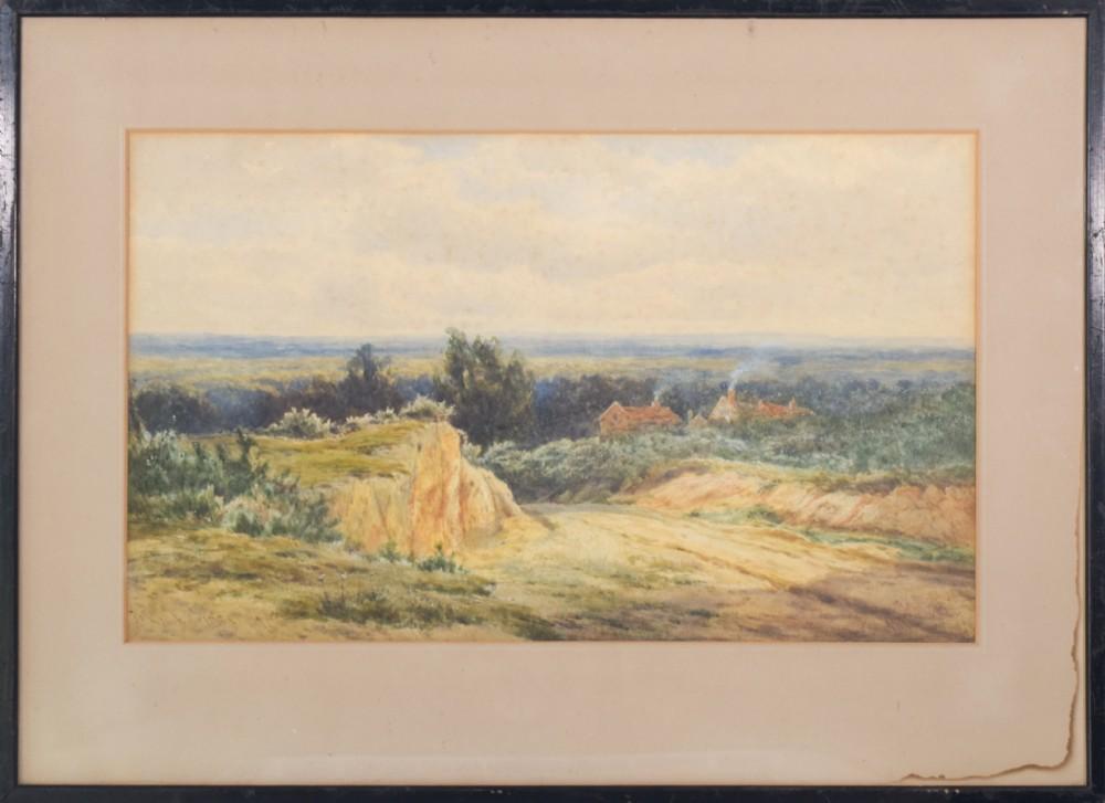 'rural landscape' watercolour by james edward grace