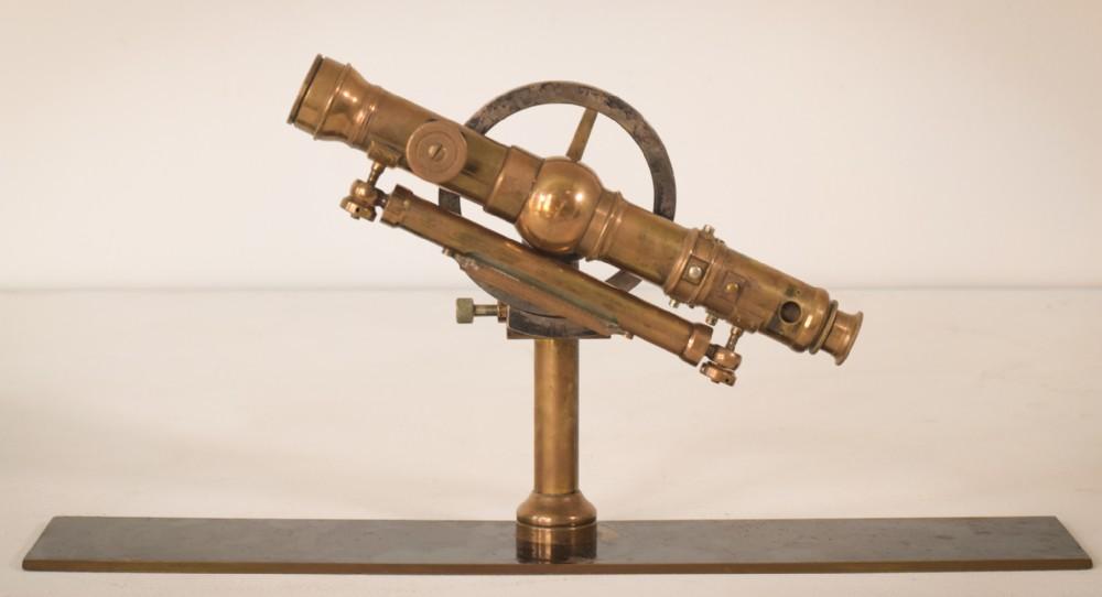 brass theodolite with level original case