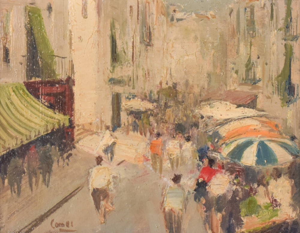 oil painting 'mercado' by joaquim comes