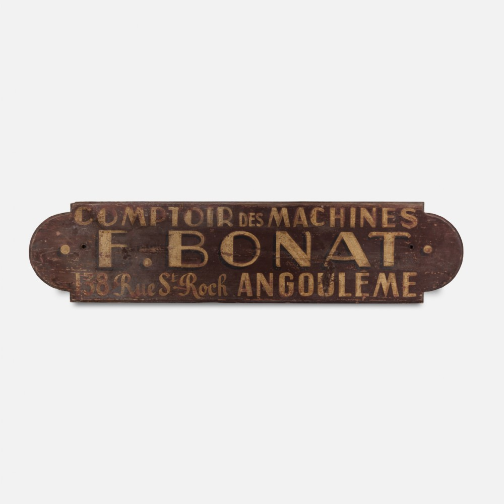 wooden french trade shop sign