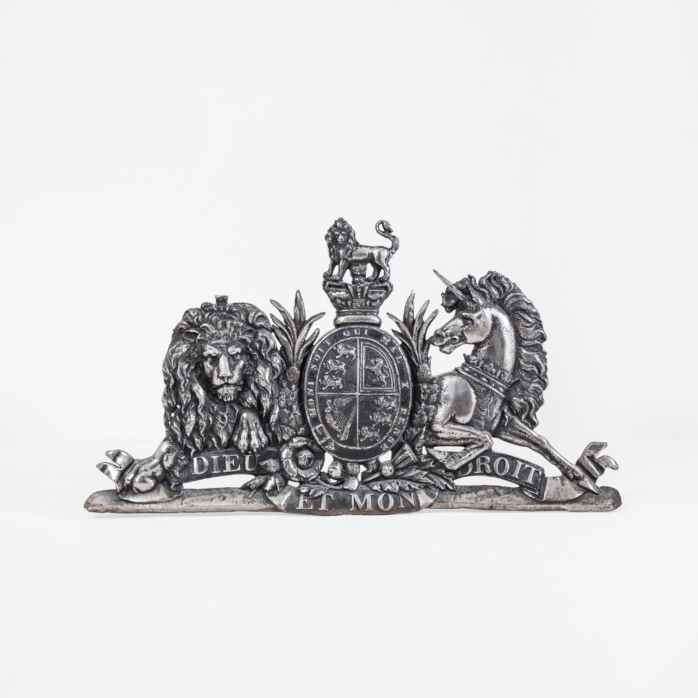 very large royal coat of arms
