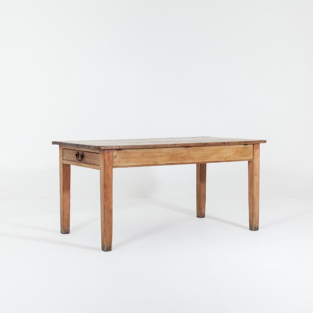 19th century pine kitchen table
