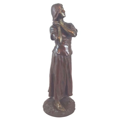 joan of arc bronze statue by raoul larche