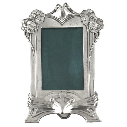art nouveau silver plated pewter photo frame by wmf
