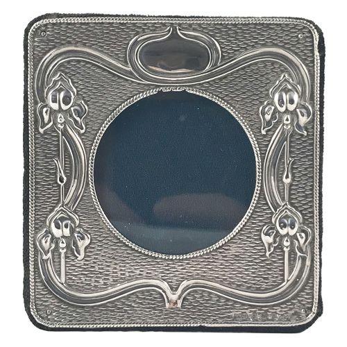 art nouveau silver photograph frame by aj zimmerman