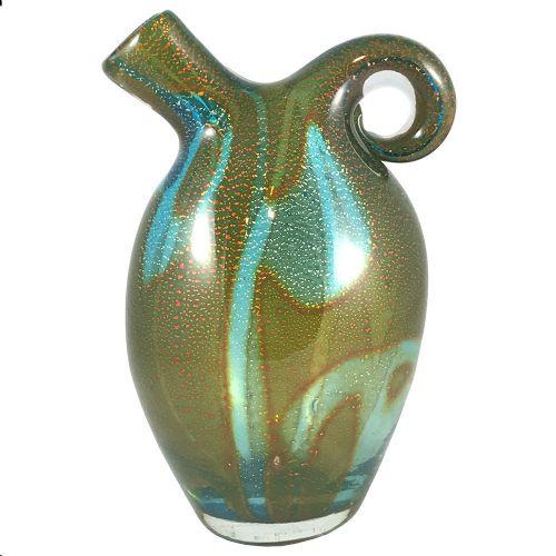 murano glass vase attributed to avem
