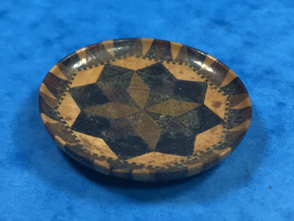 victorian tunbridge ware pin tray