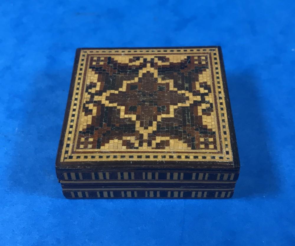 victorian tunbridge ware puzzle box