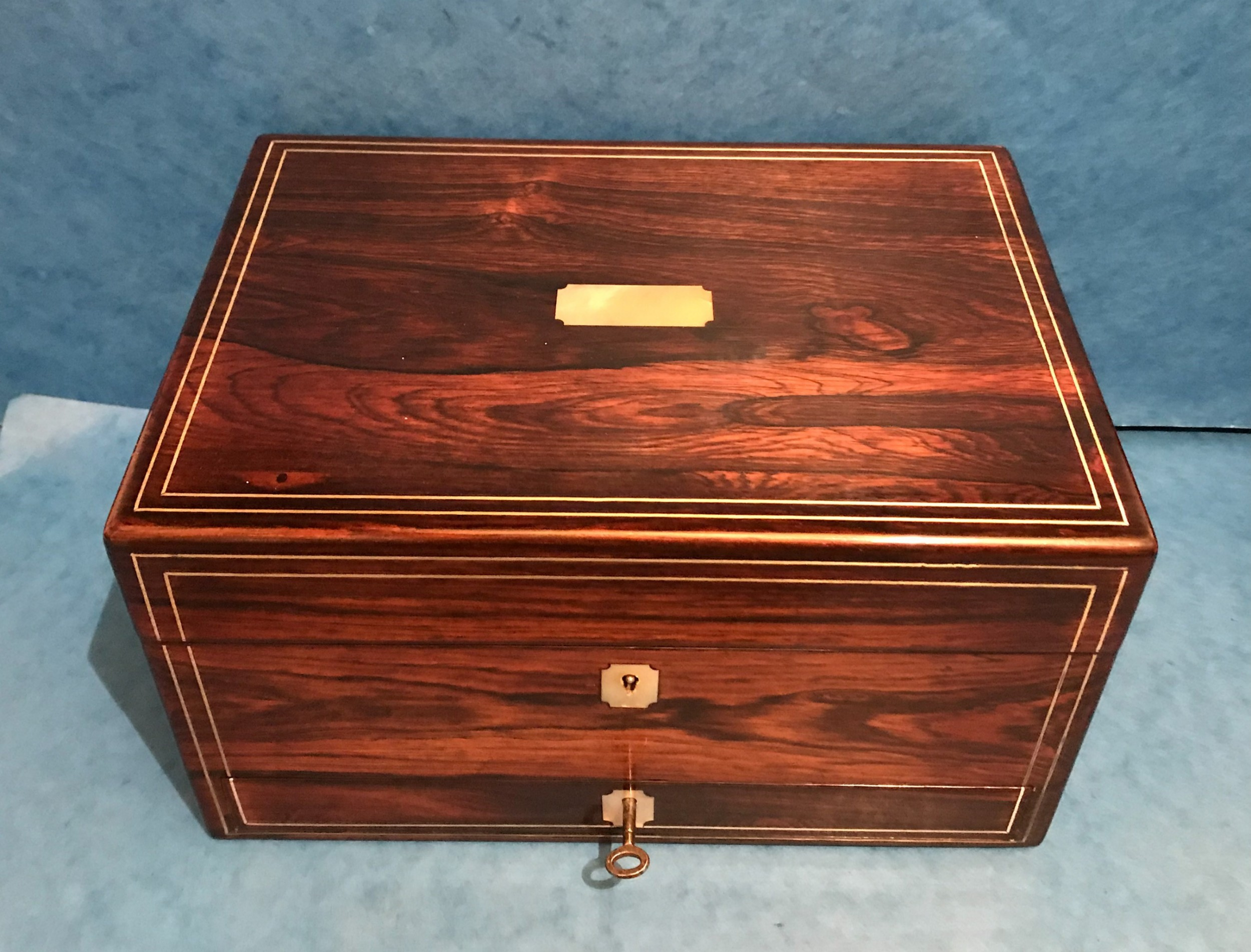 Victorian Pewter & Rosewood Jewellery Box | 528983 ...