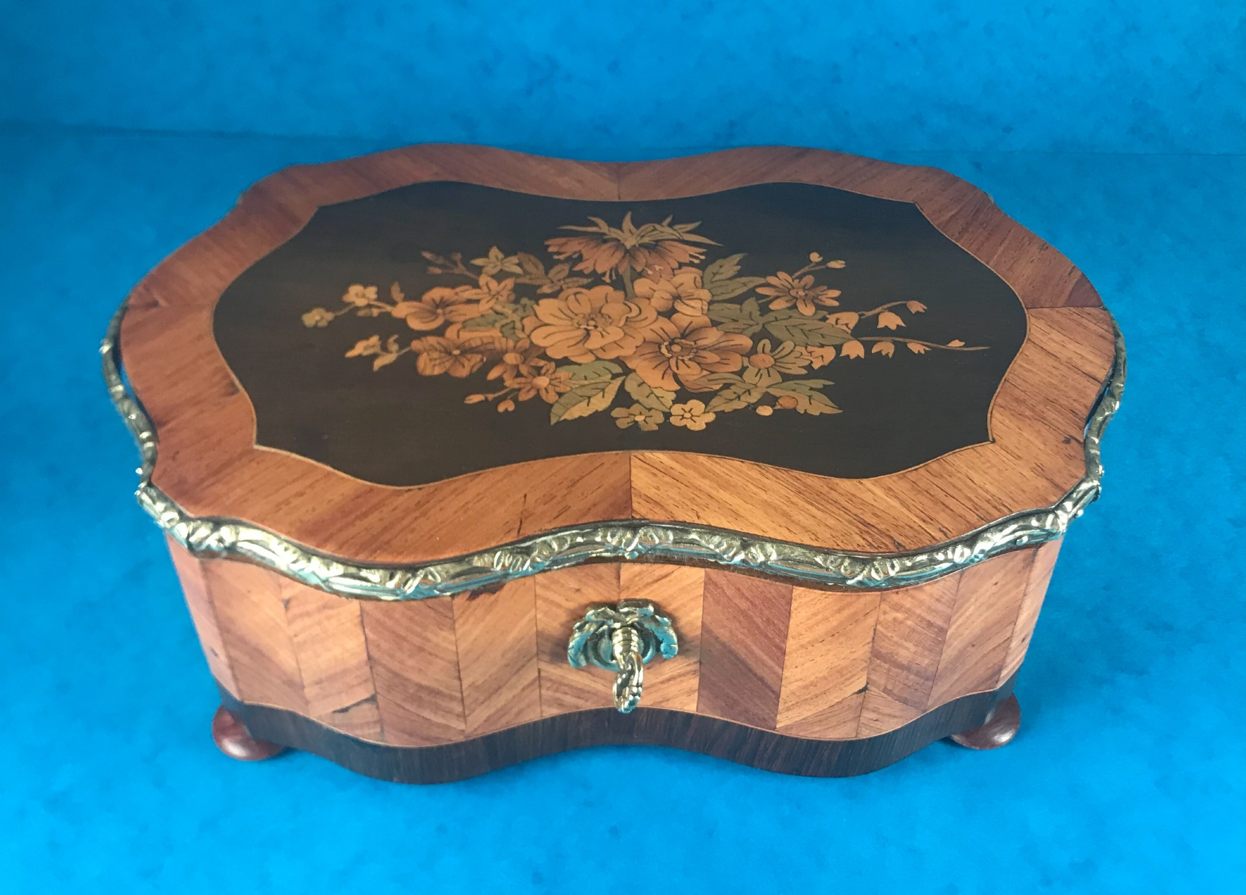 19th century 1850 french marquetry box