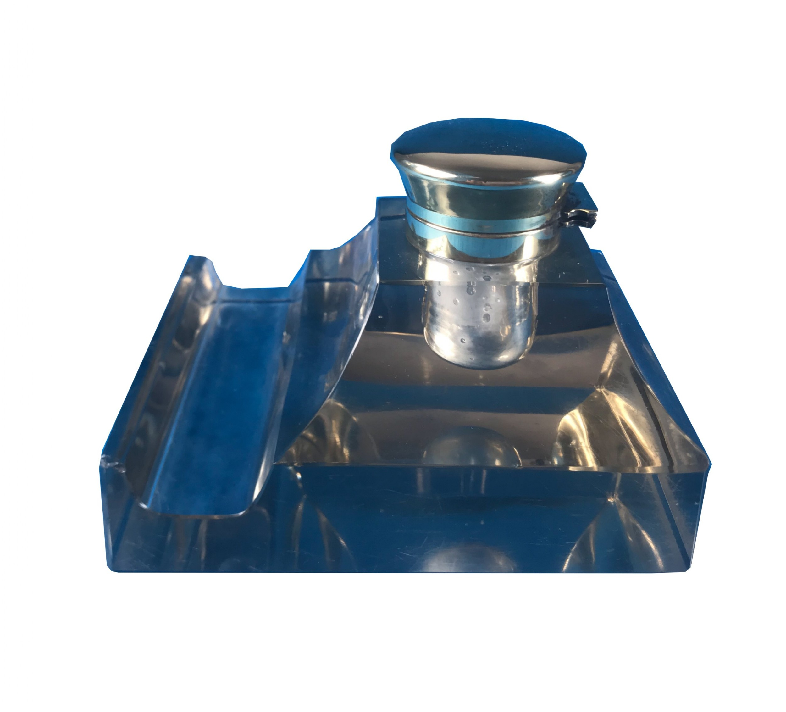 large cut glass victorian 1880 inkwell