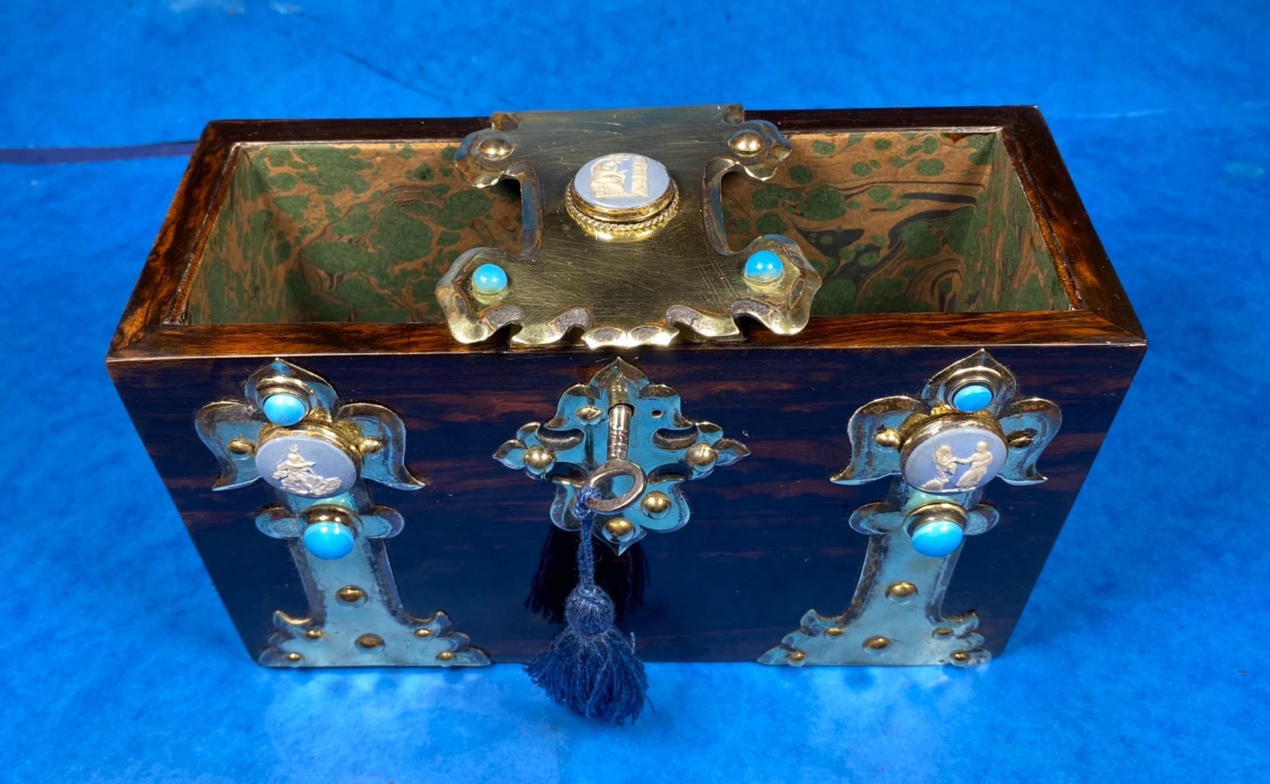 victorian brassbound coromandel book box