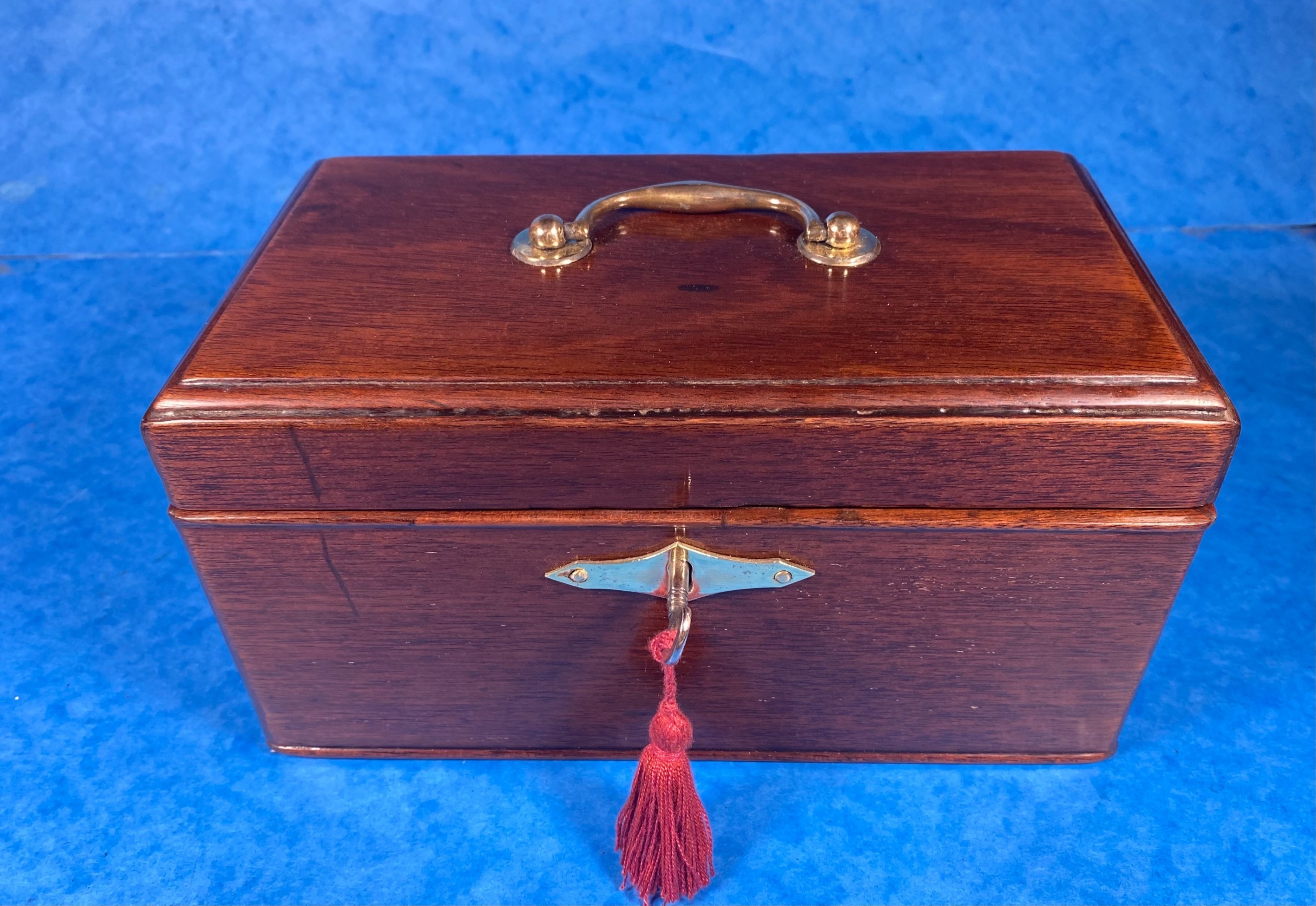 georgian mahogany three section tea caddy with canisters