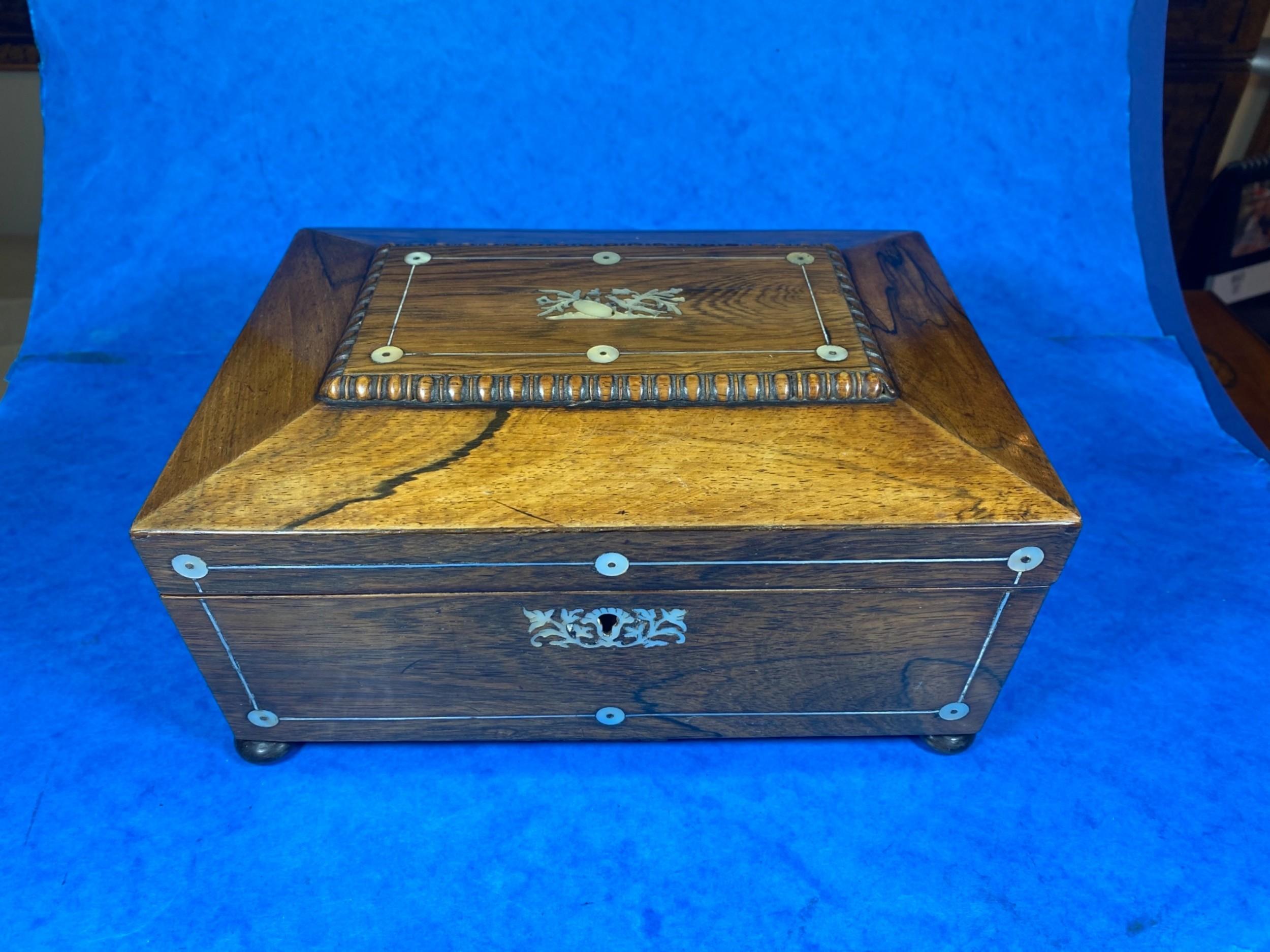 william iv rosewood sarcophagus box