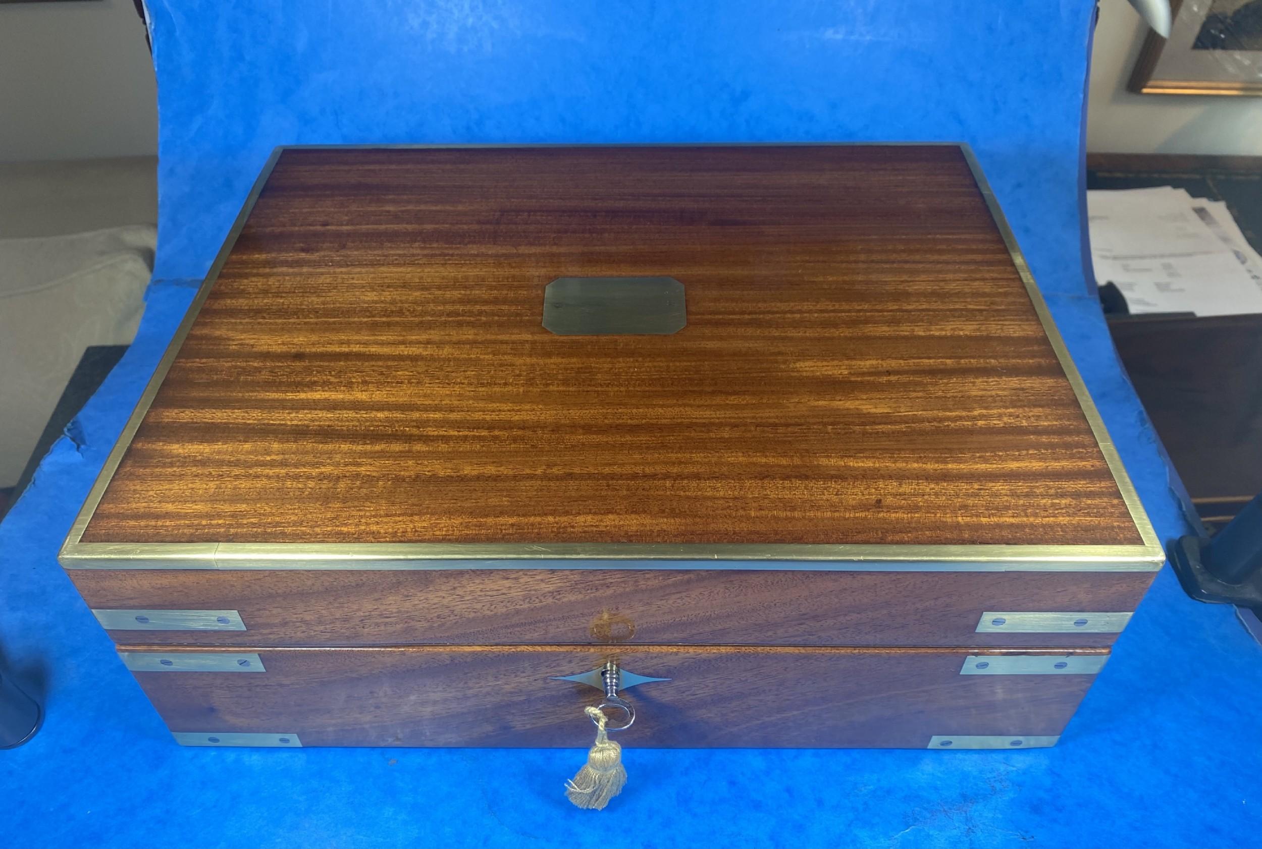 georgian mahogany jewellerywriting box