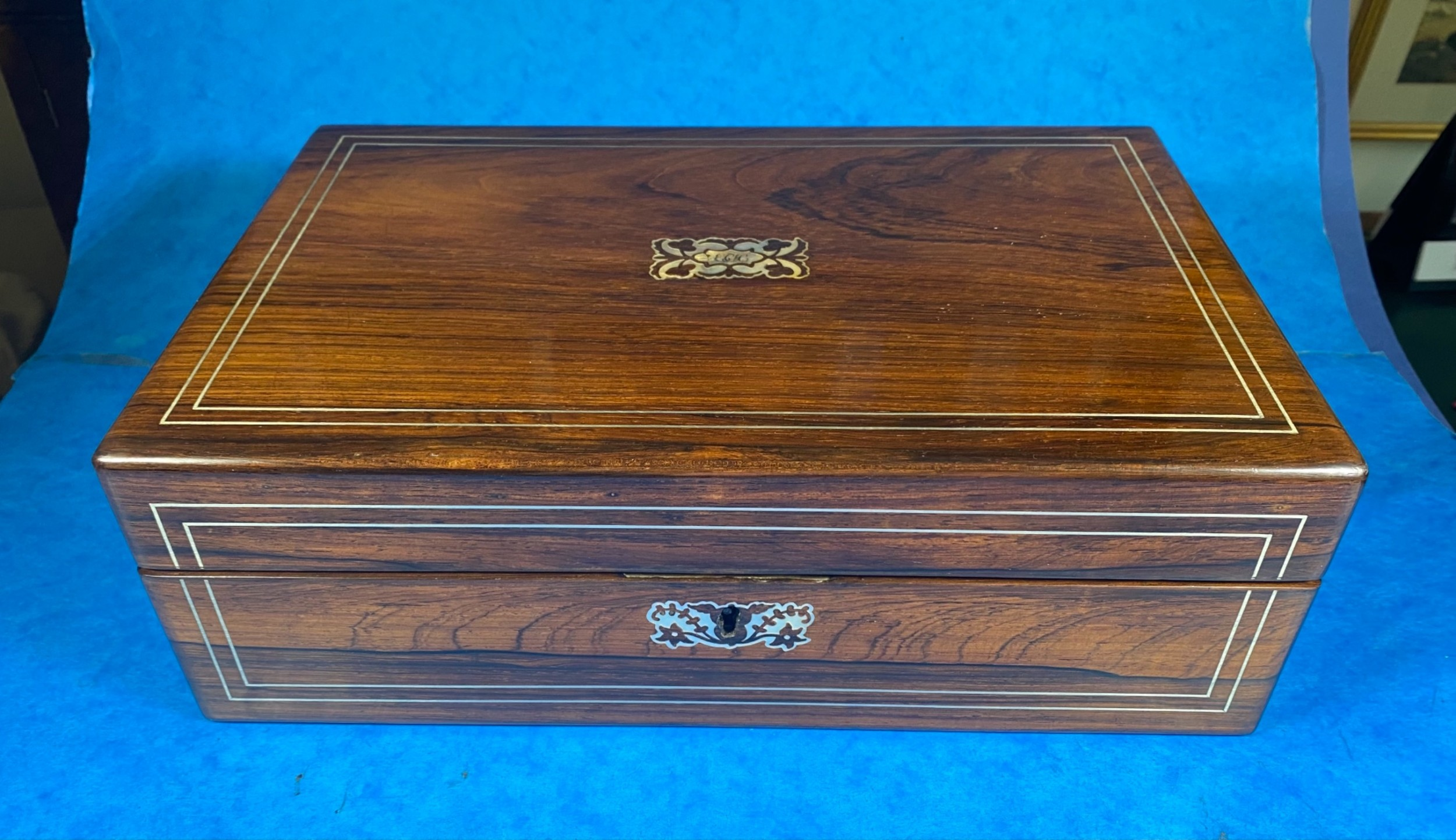 william iv rosewood mother of pearl writing slope