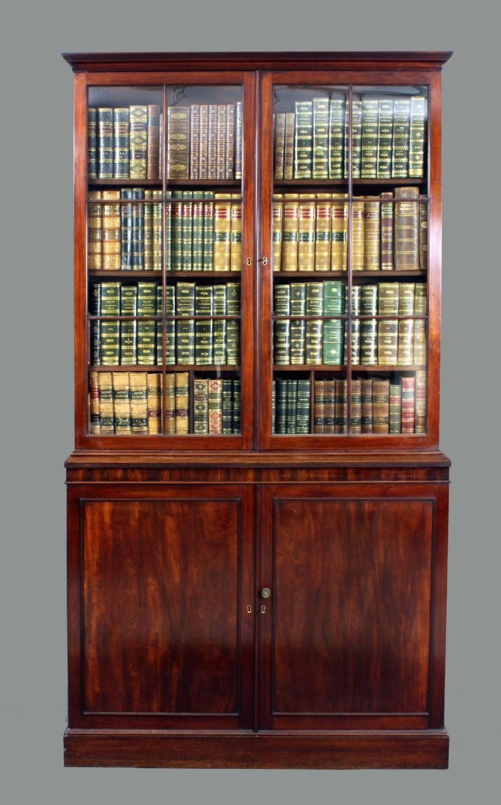 Old Bookcase Uk : Antique georgian mahogany bookcase