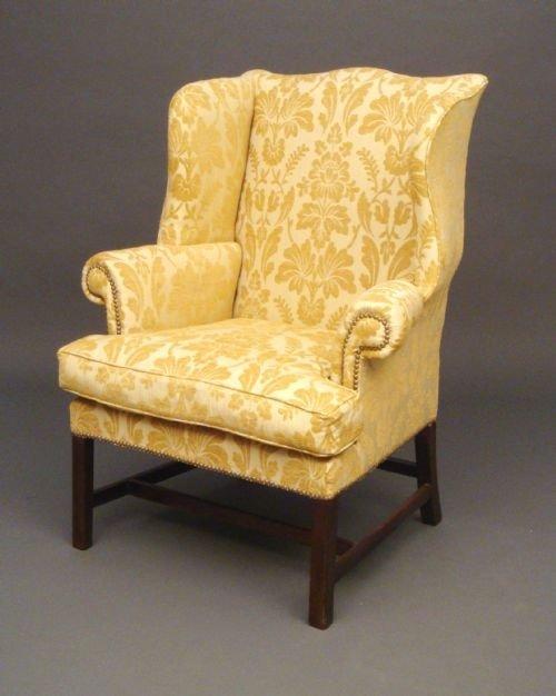 A George Iii Mahogany Wing Chair 58894 Sellingantiques