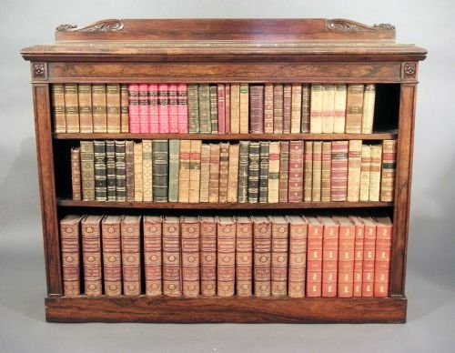 rosewood dwarf bookcase of fine quality - photo angle #4