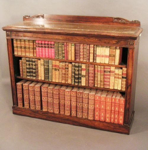 rosewood dwarf bookcase of fine quality