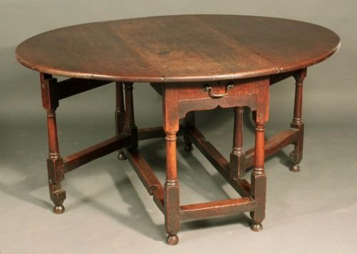 Oak Gateleg Table Th Century Sellingantiquescouk - Antique gateleg tables