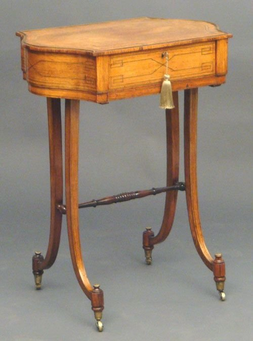 regency rosewood work table
