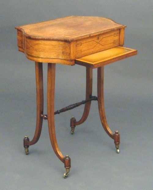 regency rosewood work table - photo angle #2