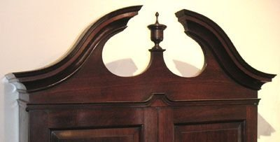 george ii mahoagny bureau bookcase with swan neck pediment - photo angle #3