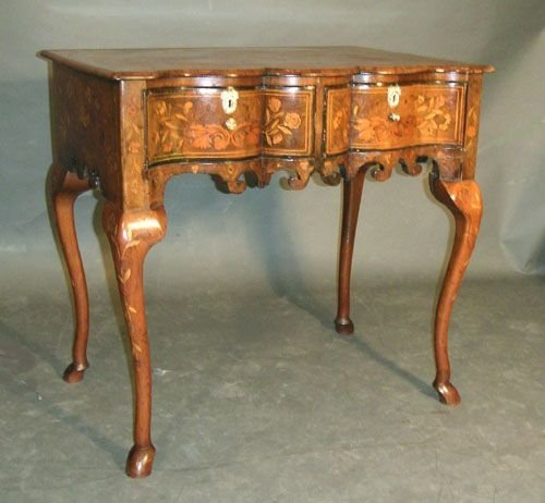 Dutch marquetry side table  sellingantiques