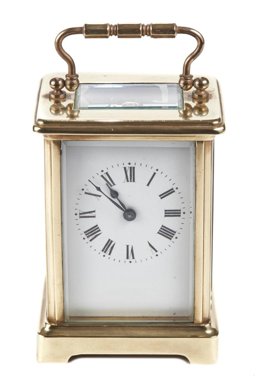antique brass carriage clock c1900