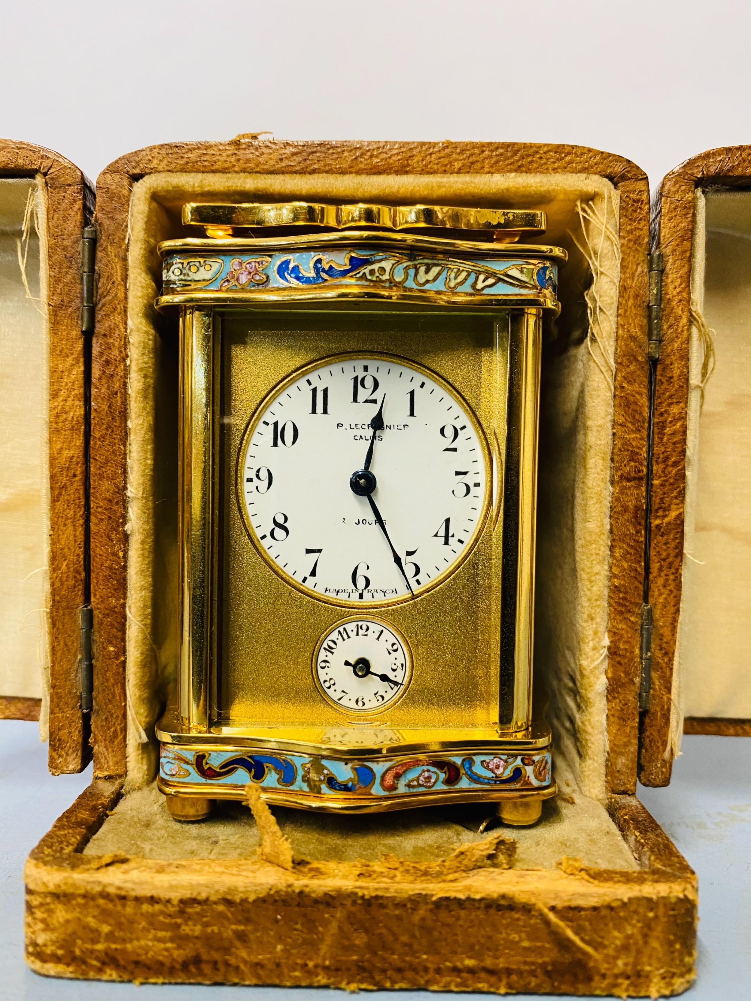 miniature carriage clock 19th century