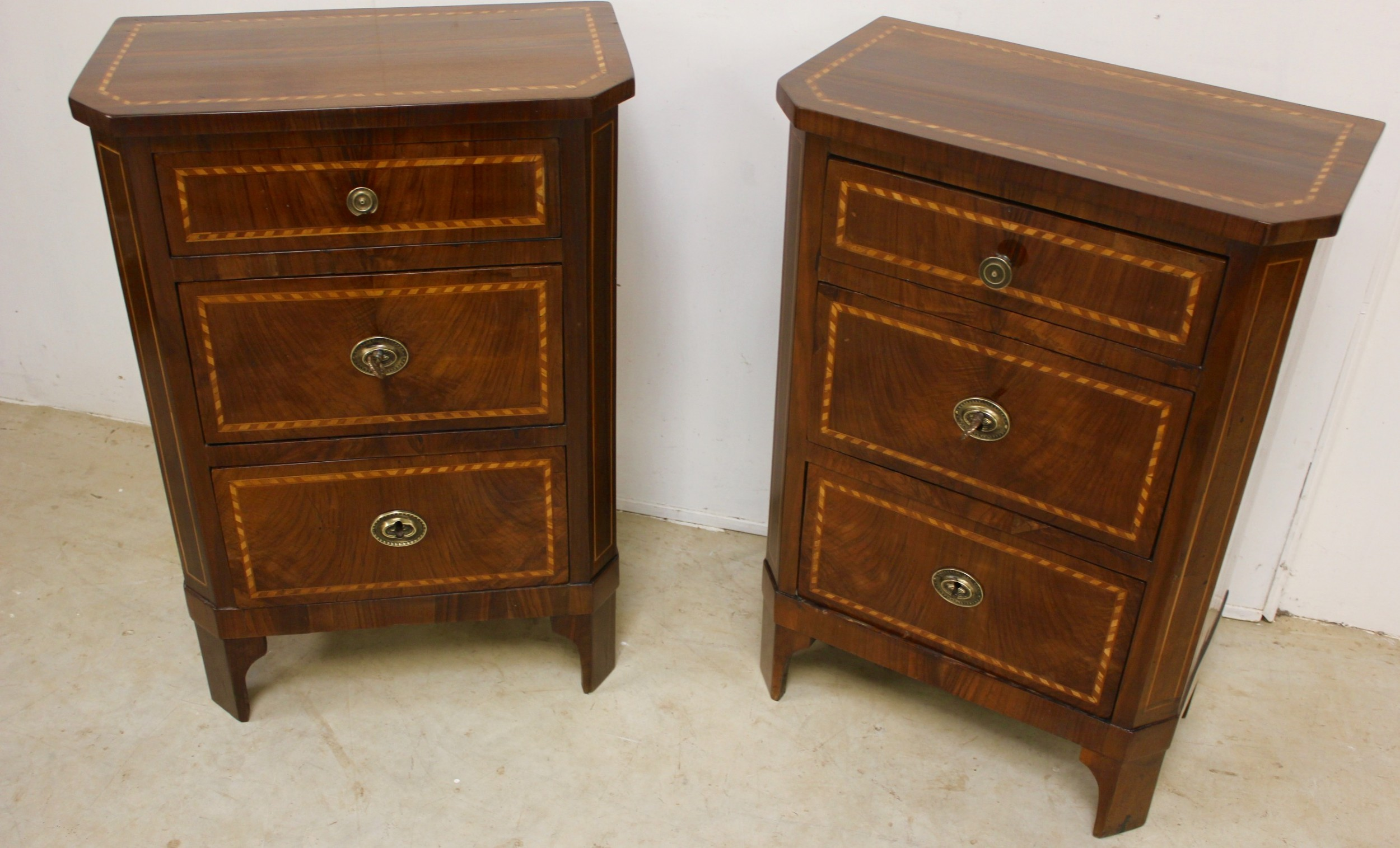 a pair of small chests