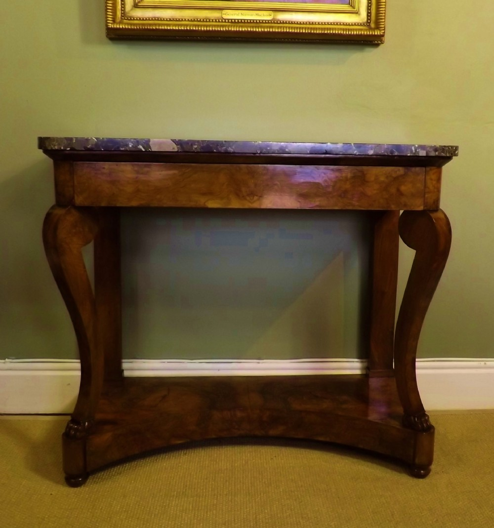 19th c walnut console table 238076. Black Bedroom Furniture Sets. Home Design Ideas