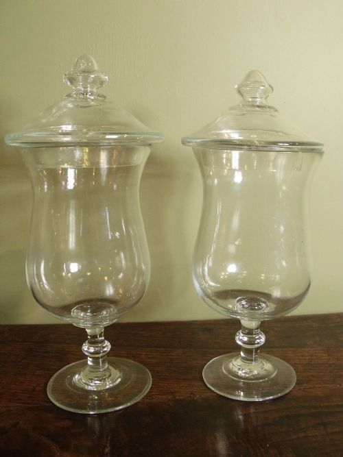 two 19th c glass vases