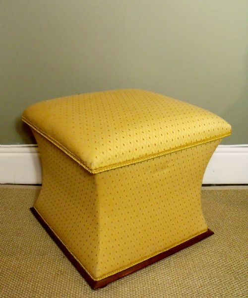 19th c upholstered ottoman